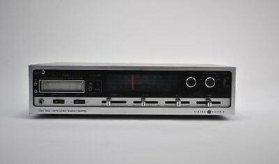 Vintage GE General Electric Eight Track AM FM Stereo Quadra-FI Equipped 9-7201A