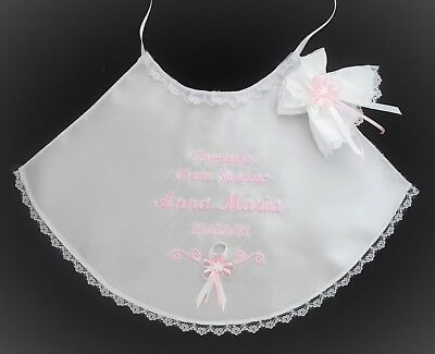 personalised baby christening/baptism robe set. szatka do chrztu