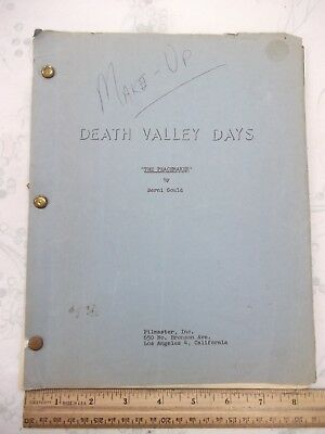Original 1963 Death Valley Days Script + Revisions *western Tv (Ships Free 2 Us)