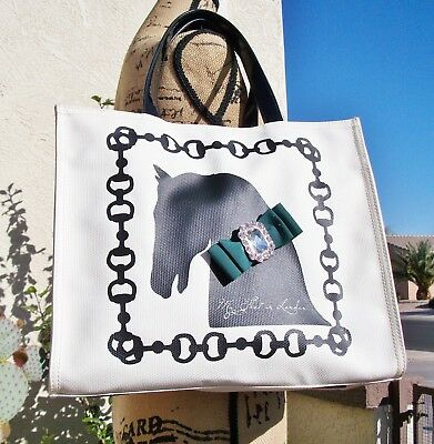 Brighton My Flat in London Iconic Tally Ho Equestrian Tote EUC