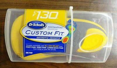 Dr. Scholl's CF130 Custom Fit Orthotic Inserts Brand NEW Sealed Free Shipping