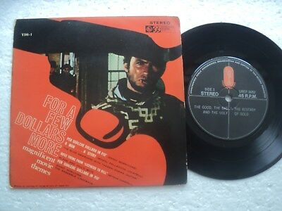 FOR A FEW DOLLARS MORE/Ennio Morricone - soundtrack - Rare MALAYSIA release EP