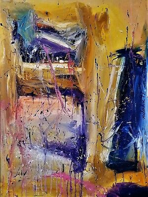 Abstract Canvas Painting Art Print - from Paris & New York collection 24X36