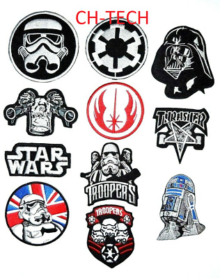 STAR WARS MOVIE CARTOON Collection mix embroidered iron on badges Patches
