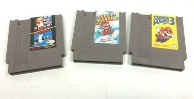 SUPER MARIO BROS. 1 2 3 Trilogy NES NINTENDO GAMES LOT -  ALL 3 & FREE SHIPPING