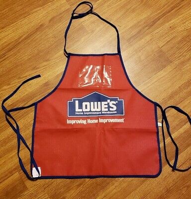 Lowes Red Child's Apron Kids Craft home red blue cute name brand w/ pockets NEW