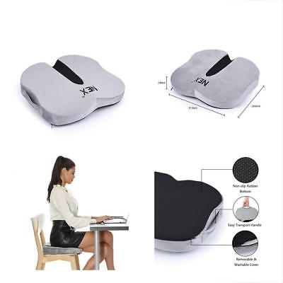 Coccyx Seat Cushion For Office Chair And Car Seat, Orthopedic With Memory Foam