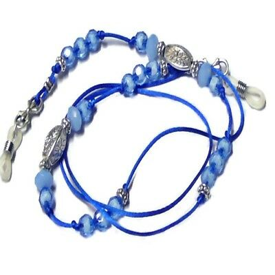Reading eye glasses, spectacle chain holder lanyard cord Rich Cobalt Blue
