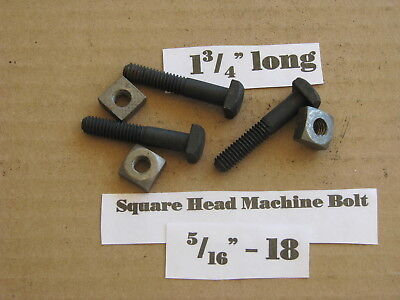 """Antique 5/16"""" -18 X 1 3/4"""" Square Head Bolts NOS LOT of 10"""