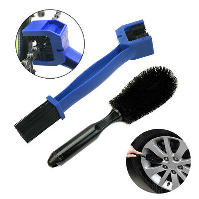 Car Motorcycle Wheel Tire Rim Scrub Washing Brush and Chain Cleaning Tool