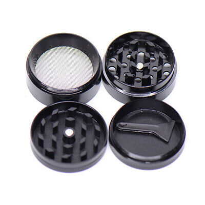 Zinc Alloy Herb Tobacco Grinder Smoke Muller 4-Piece Magnetic Lid Crusher Scrap