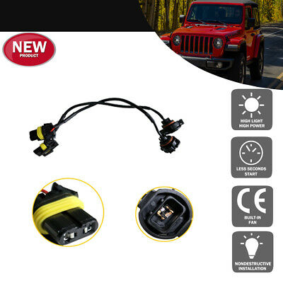 9005/9006 To H16 Adapters Wires For Fog Lamps For 2010 and up Jeep Wrangler JK