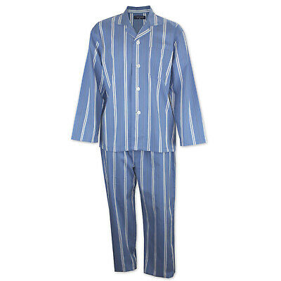 Mens Pyjamas Contare Cotton Night Shirt Navy Blue Check (NCH) Sz S-XXL