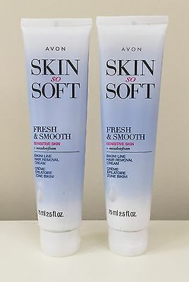 New Avon Skin So Soft Sensitive Skin BIKINI LINE Hair Removal Cream *Lot/Qty 2*