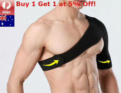 Adjustable Shoulder Support Brace Protector Strap Wrap Bandage Sports Arthritis