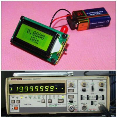 High Accuracy RF 1 to 500 MHz Frequency Meter Counter LED 0802 LCD For Ham Radio