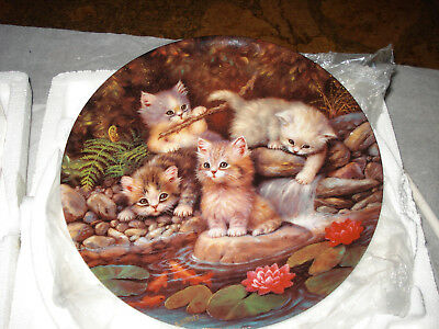 By The Lily Pond - Playful Kittens  - Bradford Exchange