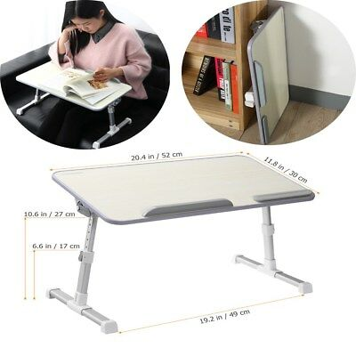 Adjustable Laptop Table Portable Standing Desk Bed Sofa Tray with Foldable Legs
