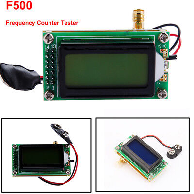 High Accuracy RF 1-500 MHz Frequency Tester Meter 0802 LCD Digital For Ham Radio