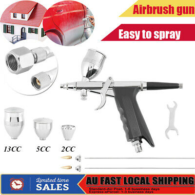 Compressor Airbrush Kit 0.3/05/0.8mm Dual Action Spray Air Brush Gun Art Set AU
