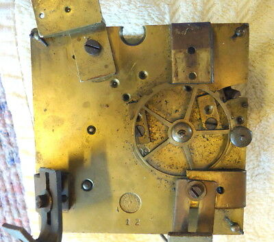 """Antique """"VCMB"""" French Mantel Clock Movement for Restoration or Spares, c1901"""