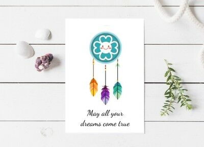 May All Your Dreams Come True Blank Card Dream Catcher