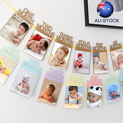 1st Baby Growth 1-12 Months Photo Prop Banner Garland Birthday Party Decoration