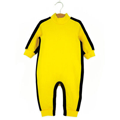 New Kids Toddler Baby Boys Bruce Lee Game of Death KungFu Romper Jumpers Costume