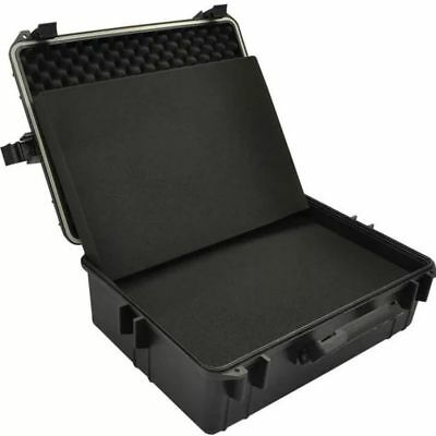 Transport Hard-Case Black w/ Foam Travel Storage Box Protection Case Heavy Duty