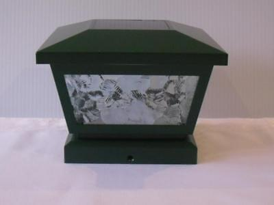 green glass solar decking post lights ideal for static caravans and