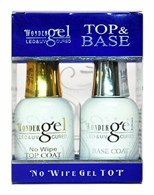 Wonder Gel UV/LED Soak off Gel (No-Wipe) Top Coat + Base Coat Duo ON Sale!