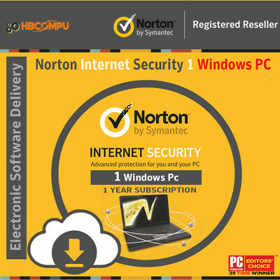 Norton Internet Security 1 PC  | 2018 - 1Year | Download | Code Key Only