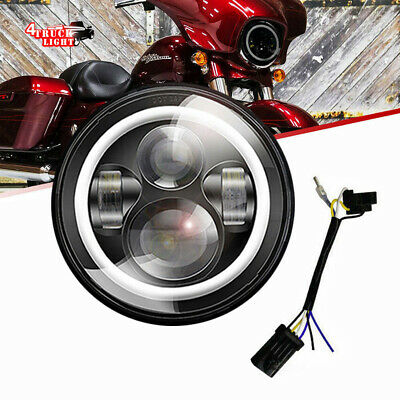 """DOT 7"""" LED Projector Daymaker Headlight For Harley Street Glide Softail FLHX F"""