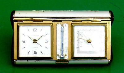 Superb Art-Deco Europa Swiss 8 Day Travellers Weather Station Alarm Clock