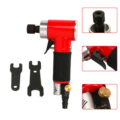 """1/4"""" 6MM Chuck 90 Degree Right Angle Air Die Grinder Pneumatic Grinding Tool New"""