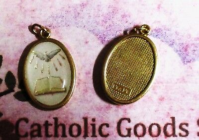 Holy Spirit - Italian 1 inch Gold Tone and Enameled - Medal