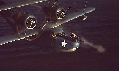 WWII photo shooter of the US Coast Guard's Hall-3 flying boat world war 62a