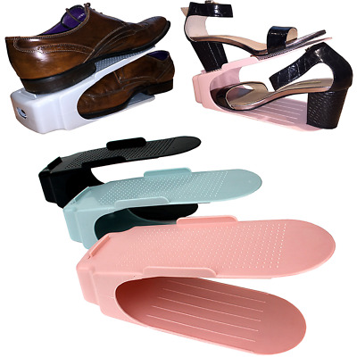 10/20 Pack Easy Shoes Organizers Shoe Slots Space Saver Rack Holder 3 Colours