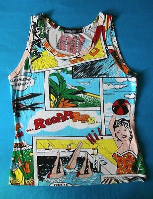 VEST vintage 90's DOLCE & GABBANA  TG.40  -XS/S circa  made in  Italy