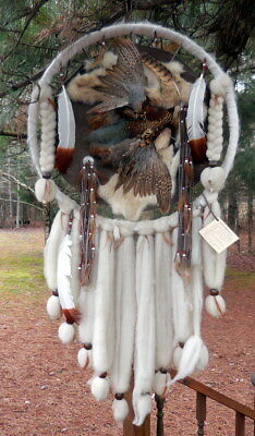 Indian-Dream-Catcher-Leather-Mandella-Shield-Native-American-Feather