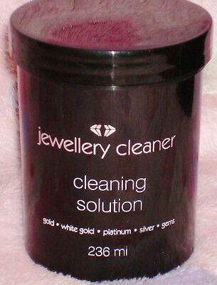 Jewellery Cleaner Cleaning Solution 236ml  for Gold, White Gold Silver,Platinum