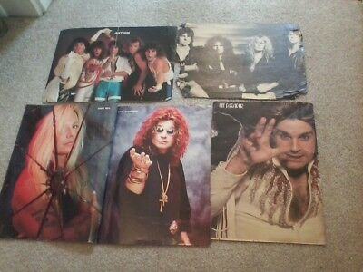 Heavy Metal Band Posters - 80s music magazines Ozzy Accept Crue Whitesnake Skid