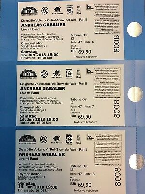 3 tickets karten andreas gabalier m nchen 16 juni 2018 sitzpl tze trib ne l2 eur 105 00. Black Bedroom Furniture Sets. Home Design Ideas