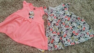 Primark Baby Girls Disney Pk2 Minnie Mouse Dresses Bnwt All Ages Holiday