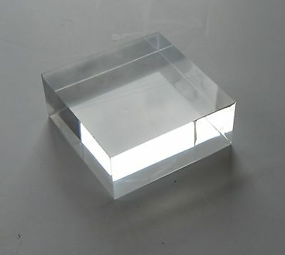 "acrylic riser blocks (1) 5x5x2"" thick clear and (1) 5x5x3/4"" thick clear"