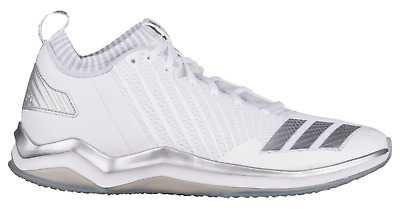 New Men s ADIDAS Icon Trainer Cross Training Sneaker BY3301 White Silver SZ  9.5 a2e3b8a5b