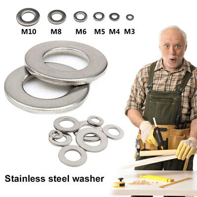 Metal Washer Shim Durable Stainless Steel Silver Screw Flat Washers Spacer