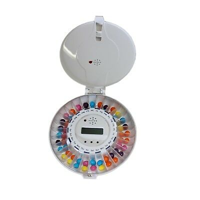 Automatic Pill Dispenser, lockable 28 compartments with Alarms RRP £65.99