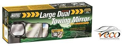 Pair Universal Large Towing Dual Glass Mirrors 4 X 4 Mpv Caravan Maypole Mp8324