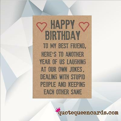 Best Friend Birthday Card Friends Funny Humour Bff Birthday